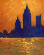 Metropolis Originals - Mobile Skyline Late Evening by Vernon Reinike