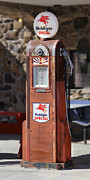 Strong Vertical Images Prints - Mobilgas Special - Wayne Gas Pump Print by Mike McGlothlen