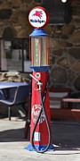 Strong Vertical Images Prints - Mobilgas Visible Gas Pump Print by Mike McGlothlen