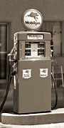 Antique Digital Art Metal Prints - Mobilgas - Wayne Double Gas Pump 2 Metal Print by Mike McGlothlen
