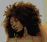 Brown Digital Art Originals - Mocha Diva by Byron Fli Walker