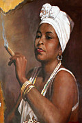 Carolyn Stagger Cokley Metal Prints - Mocha Woman Metal Print by Carolyn Stagger Cokley