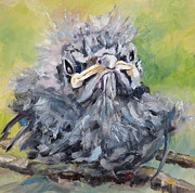 Mockingbird Paintings - Mockingbird Baby by Saundra Lane Galloway
