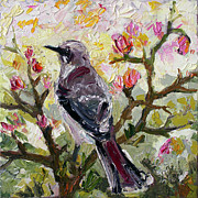Mockingbird Paintings - Mockingbird by my Window by Ginette Callaway