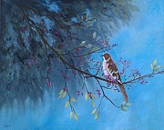 Mockingbird Paintings - Mockingbird Happiness by Suzanne Theis