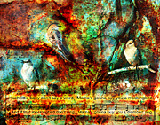 Mockingbird Digital Art Posters - Mockingbird Lullaby Poster by Pam Carter
