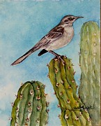 Mockingbird Paintings - Mockingbird by Ruth Glenn Little