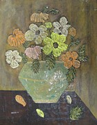 1976 Paintings - Mod Flowers by Gebelak
