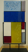 Primary Colors Glass Art - Mod by Mary  Knapp