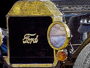 Gold Ford Prints - Model A Ford Print by Betty LaRue