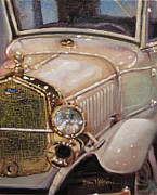 Model T Ford Paintings - Model A Gold by Dan Nelson