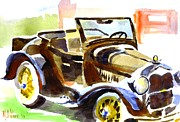 Water Colours Framed Prints - Model A in September Sunshine Framed Print by Kip DeVore