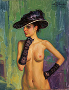 Serguei Zlenko - Model in black hat.