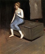 Edward Hopper Paintings - Model sitting by Edward Hopper