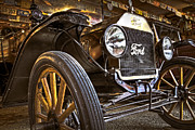 Roadster Grill Posters - Model T Poster by Debra and Dave Vanderlaan