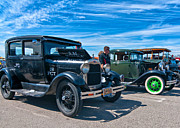 Patrol Car Framed Prints - Model T Fords Framed Print by Steve Harrington