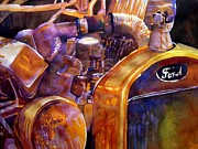 Model T Ford Paintings - Model T by Jerry Aissis