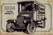 Ford Truck Drawings - Model TT by Dale Michels