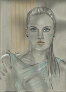 Pretty Drawings Originals - Models Thoughts by P J Lewis