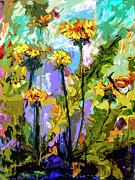 Ginette Fine Art LLC Ginette Callaway - Modern Abstract Dandelion Flowers