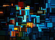 Rectangle Art - Modern Abstract V by Lourry Legarde