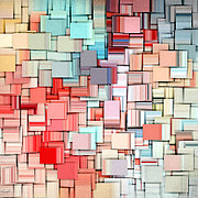 Rectangle Art - Modern Abstract X by Lourry Legarde