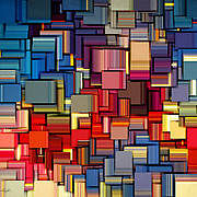 Modern Abstract Xii Print by Lourry Legarde