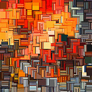 Burnt Digital Art - Modern Abstract XXXIV by Lourry Legarde