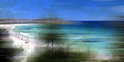Blurred Framed Prints - Modern-Art BONDI BEACH Framed Print by Melanie Viola