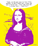 Cartoons About Women Posters - Modern Beauty Mona Pink Poster by Ghita Andersen
