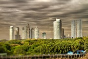 Buenos Aires Gifts Prints - Modern Buenos Aires Tilt Shift Print by For Ninety One Days
