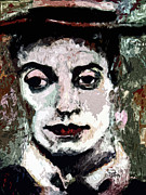 Classic Hollywood Mixed Media Prints - Modern Buster Keaton The Great Stone Face Print by Ginette Callaway