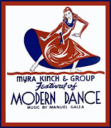United States Travel Bureau Prints - Modern Dance Print by Unknown