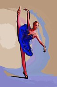 College Town Framed Prints - Modern dancer 13 Framed Print by College Town
