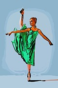 College Town Framed Prints - Modern dancer 18 Framed Print by College Town