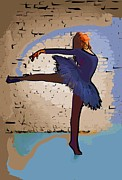 College Town Framed Prints - Modern dancer 2 Framed Print by College Town