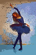 College Town Framed Prints - Modern dancer 3 Framed Print by College Town