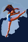 College Town Framed Prints - Modern dancer 35 Framed Print by College Town