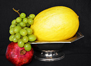 Natural Food Prints - Modern Fruit Bowl Still Life Print by Anahi DeCanio
