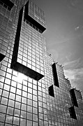Glass Reflecting Metal Prints - Modern glass building Metal Print by Elena Elisseeva