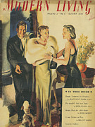 Covers Drawings Prints - Modern Living 1938 1930s Uk Dinners Print by The Advertising Archives