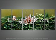 FabuArt - Modern Lotus Metal Wall...
