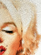 Actors Prints - Modern Marilyn - Marilyn Monroe Art by Sharon Cummings Print by Sharon Cummings
