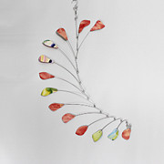 Hanging Sculptures - Modern Mobile - Rose Petals by Carolyn Weir