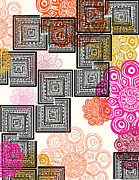 Colorful Metal Prints - Modern Morocco - warm Metal Print by Khristian Howell