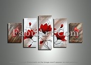 FabuArt - Modern Red Flower...