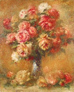 Roses Mixed Media Framed Prints - Modern Renoir Framed Print by Zeana Romanovna