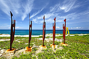 Isla Prints - Modern Sculptures Seaside Print by George Oze