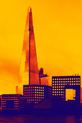 London England  Digital Art - Modern - The Shard London England  by Natalie Kinnear