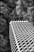 Architectural Abstract Posters - Modern Tower of Babel - black and white Poster by Hideaki Sakurai